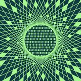 Binary code backdrop. Binary code background with digits on screen. Algorithm binary, data code, decryption and encoding, row matrix. Geometry mosaic frame vector illustration