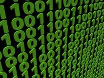 Binary code background. Abstract green binary code background illustration Stock Illustration