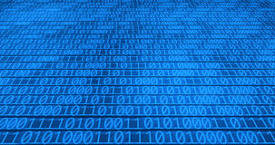 Binary code background. An image of blue binary code background stock photography