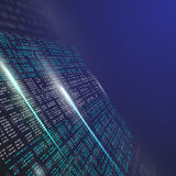 Binary code background abstract illustration Stock Photography