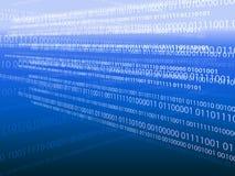 Binary code background. Binary code on blue background Stock Photography