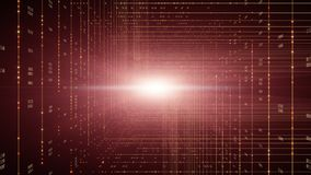 Binary code background. Cloud computing, IOT and artificial intelligence AI concept stock footage
