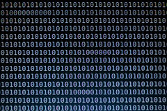 Binary Code Background on Computer Screen Stock Photography
