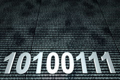 Binary Code. Background. 3D Illustration Stock Photography