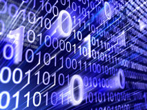 Binary code background. 3d image of Binary code background Royalty Free Stock Image