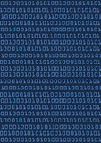 Binary code background. Dark Blue background with binary code.Vector illustration Royalty Free Stock Photo