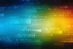 Binary Code Background, Digital Abstract technology background. Cyber abstract background stock image
