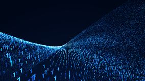Binary Code Background. Digital illustration. 3d rendering Royalty Free Stock Photography
