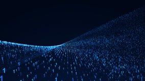 Binary Code Background. Digital illustration. 3d rendering Stock Photos