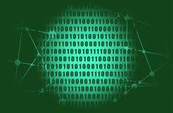 Binary code backdrop. Binary code background with digits on screen. Algorithm binary, data code, decryption and encoding, row matrix stock illustration