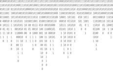 Binary code falling gray background stock illustration