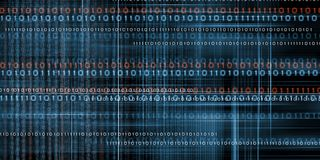 Binary code background. Technology media background concept with binary code royalty free stock photography