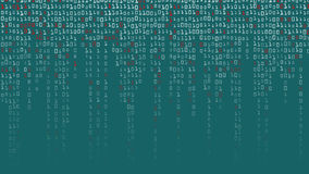 Binary Code Background Vector. High-Tech Matrix Background With Digits Stock Image