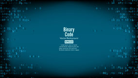 Binary Code Background Vector. High-Tech Matrix Background With Digits Royalty Free Stock Photo