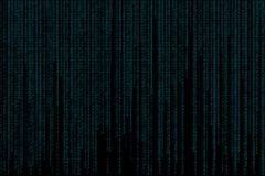 Binary code banner. Data and technology, decryption and encrypt Royalty Free Stock Images