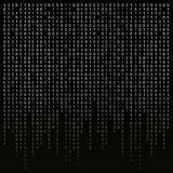 Binary code on a black background.  algorithm, encryption, encoding matrix. Stock Photo