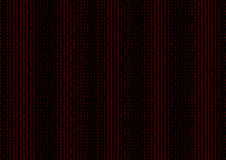 Binary code black and red background. Binary code black and red background with two binary digits, 0 and 1 isolated on a black background. Halftone vector Royalty Free Stock Images
