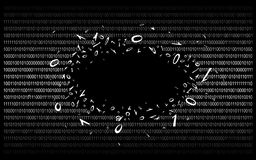 Binary code on black v1 royalty free stock photo