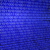 Binary code on blue background. Binary code zeros and ones creating a blue background Royalty Free Stock Photos