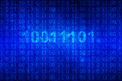 Binary code on blue background Royalty Free Stock Image