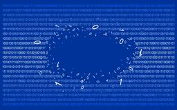 Binary code on blue v1 Royalty Free Stock Photos