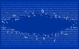 Binary code on blue v2 stock photography