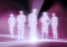 Binary Code Business People Royalty Free Stock Photos