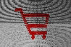 Binary code cart store Royalty Free Stock Photo