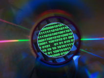 Binary code&cd Royalty Free Stock Images