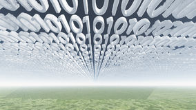 Binary code clouds Royalty Free Stock Photo