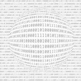 binary code computer Ψηφιακά στοιχεία αφηρημένη μήτρα ανασκόπησης Έννοια χάκερ επίσης corel σύρετε το διάνυσμα απεικόνισης Διανυσματική απεικόνιση