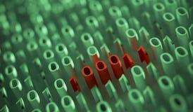 binary code computer Απεικόνιση αποθεμάτων