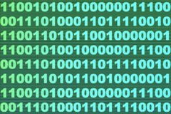 Binary code. A computer binary code background Stock Illustration