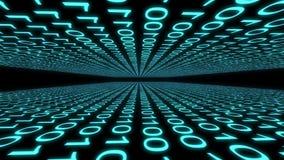 Binary code computer data cyberspace graphic animation. Computer digital binary code Internet cyberspace graphic animation that can be used for various tech royalty free illustration