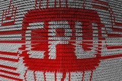 Binary code the CPU Royalty Free Stock Photos