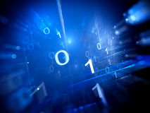 Binary code in cyberspace Royalty Free Stock Photo