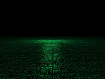 Binary code 3d background. Classic binary code 3d background Royalty Free Stock Image