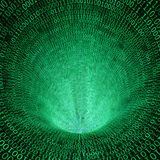 Binary code 3d background. Classic binary code 3d background Royalty Free Stock Photography