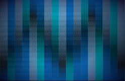 Binary code dark blue. Illustration design background Stock Photography