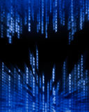 Binary Code Data Flowing On Display Royalty Free Stock Images