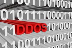 Binary code ddos Stock Photos