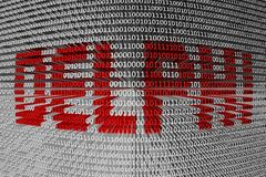 Binary code Delphi stock illustration