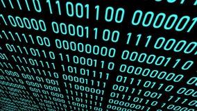 Binary code digital numbers background . digits moving . 4K video
