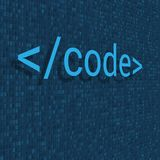 Binary code digital technology background. Computer data by 0 and 1. Algorithm Binary Data Code, Decryption and Encoding. Vector. Illustration royalty free illustration