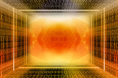 Binary code digital tunnel Royalty Free Stock Photo