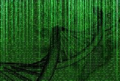 binary code with dna molecule Stock Photos