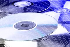 Binary code on dvd Royalty Free Stock Images