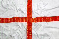 Binary code with England flag, data protection concept Royalty Free Stock Photos