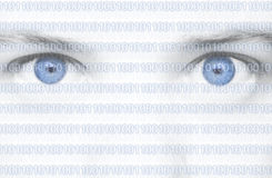 Binary Code Eyes Stock Image