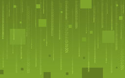 Binary code falling on green Stock Images